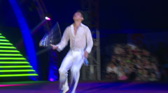 Circus juggler on stage. Stock Footage