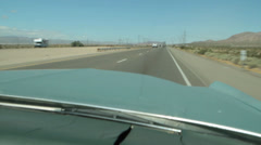 USA 1969 cadillac on the highway - Nevada 6 Stock Footage