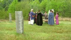 druidic ritual 02 - stock footage