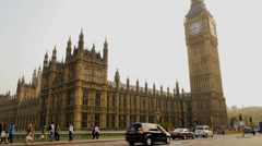 big ben and houses of parliament, london, england - stock footage