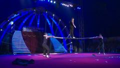 Acrobatic show in the circus Stock Footage