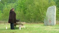 Druidic ritual 03 Stock Footage