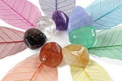 Closeup of chakra gemstones Kuvituskuvat