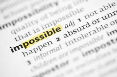 Possible concept with word impossible in a dictionary - stock photo