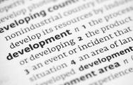 Stock Photo of Development definition in a dictionary