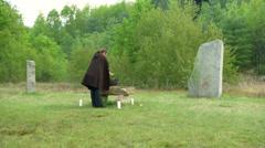 Druidic ritual 04 Stock Footage