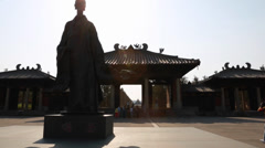 The musuem at yungang grottoes in datong china Stock Footage