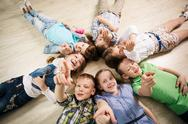 Group of happy kids Stock Photos