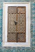 harem door from mother of earl inlay at topkapi palace - stock photo