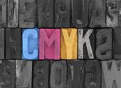 Stock Photo of Cmyk made from old letterpress blocks