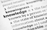 Stock Photo of Knowledge definition in a dictionary