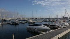 Boats in Marina Stock Footage