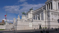 Stock Video Footage of Rome, Italy, Piazza Venezia, Vittoriano or Altere della Patria monument.