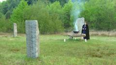 Druidic ritual 05 Stock Footage