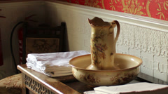 Sliding shot of the room full of antiques - stock footage
