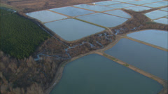 Wet Farmlands Lakes Stock Footage