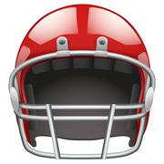 Realistic american football helmet. isolated on white background. bitmap copy Stock Illustration