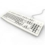 3d model of White keyboard