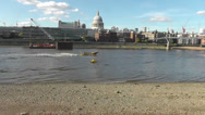 Stock Video Footage of London beach including St Pauls