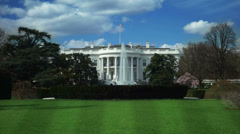 White House. Time-lapse. 2 in 1. Washington DC, USA.  Stock Footage