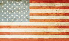 grunge american flag - stock illustration