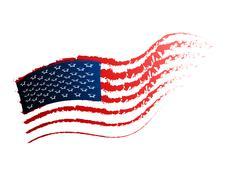 american flag - stock illustration