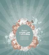 vintage frame - stock illustration