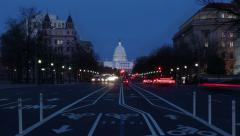 US Capitol time-lapse. 2 in1. Stock Footage