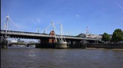 Golden Jubilee Bridge London Stock Footage