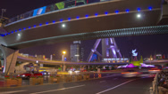 Stock Video Footage of Shanghai night traffic timelapse 4K