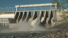Spillway on Ghost Hydro Electric Dam - stock footage