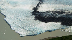 Aerial view of glacier ice shelf, Alaska Stock Footage