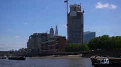 OXO builing at Thames Riverside Stock Footage