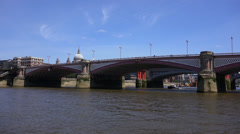 Blackfriars Bridge in London - stock footage