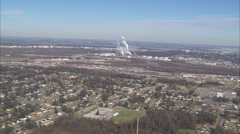 Industrial City Skyline Stock Footage