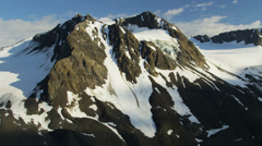 Aerial view mountain peaks and ridges, USA - stock footage