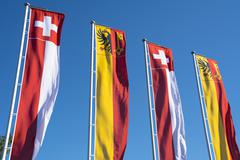 Swiss banners Stock Photos