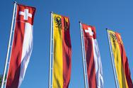 Stock Photo of Swiss banners