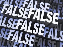 Stock Illustration of totally false