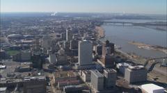 Memphis Stadium Flyover Stock Footage