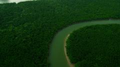 Aerial view Phang nga bay limestone Karsts, Thailand, - stock footage