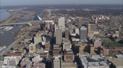 Memphis Skyline Flyover Stock Footage