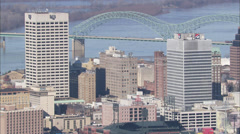 Memphis Skyline by River Stock Footage