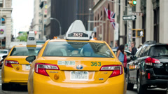 Taxicabs in Manhattan, New York City Stock Footage
