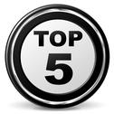Stock Illustration of vector top five icon