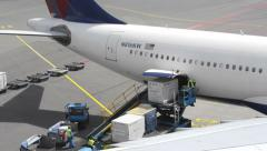 Airplane loading - stock footage