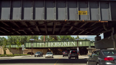 Hoboken Sign Stock Footage