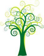 vector art tree - stock illustration