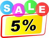 Stock Illustration of vector five percent sale icon