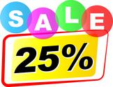 Stock Illustration of vector twenty five percent sale icon